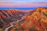 Moonset Over the Green River