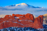 Fresh Snow and Clouds at Sunrise print