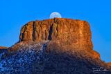 Castle Rock Moonrise Hiker