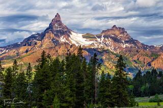 wyoming, alpine, forest, absaroka, yellowstone, mountains, horizontal, summer