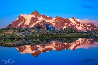Mount Shuksan Alpenglow Sunset