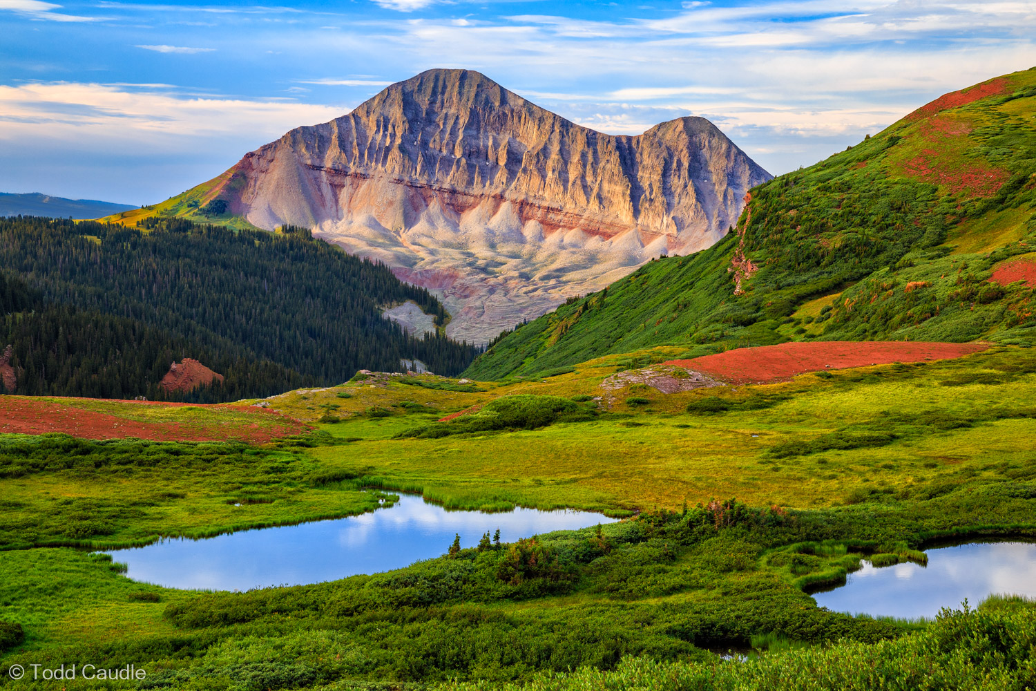 Engineer Mountain is one of the most interesting mountains in Colorado. Look closely and you'll see a series of rock glaciers...
