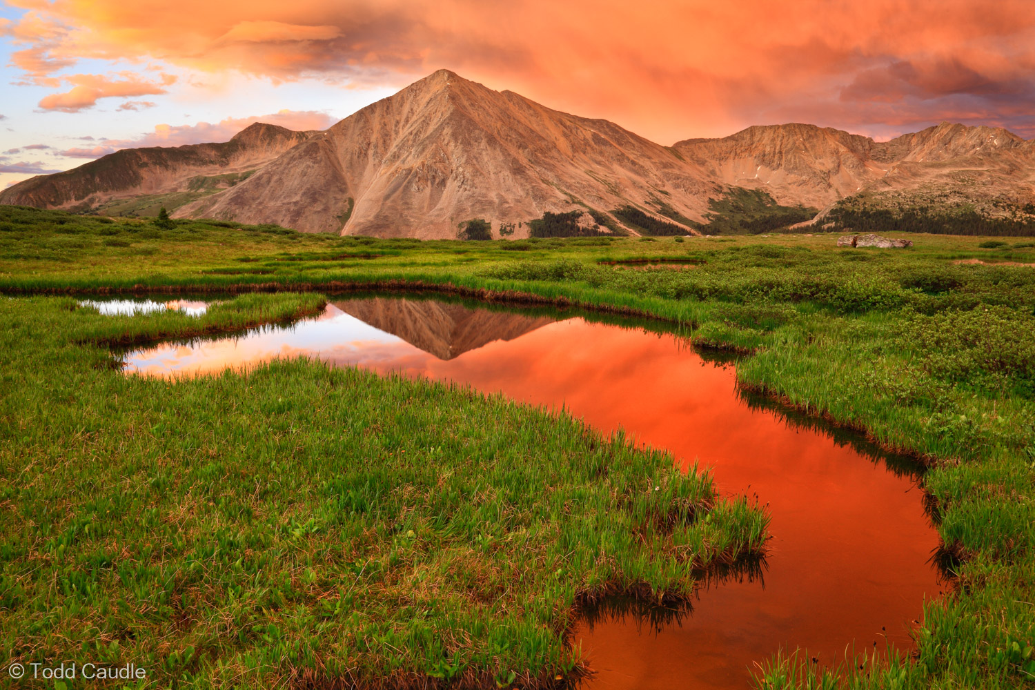 An amazing sunset unfolds over Huron Peak in the Sawatch Range.