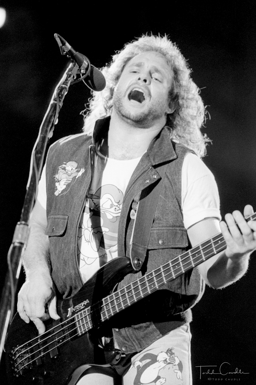 Van Halen, Eddie Van Halen, Alex Van Halen, Michael Anthony, Sammy Hagar, Mile High Stadium, 1988