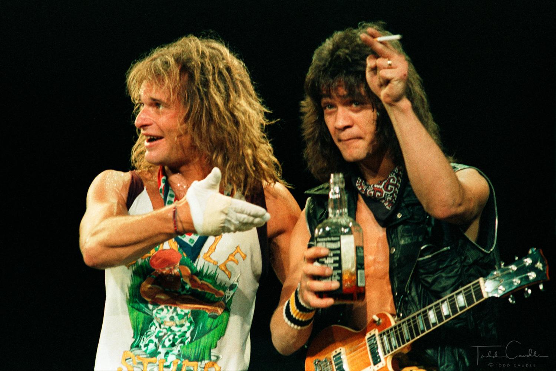 Van Halen, Eddie Van Halen, Alex Van Halen, Michael Anthony, David Lee Roth, McNichols Arena, 1984